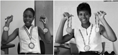 Jacki Pictured as Wilma Rudolph