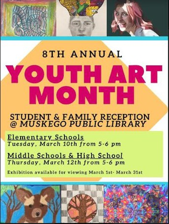 Youth Art Month at Muskego Public Library
