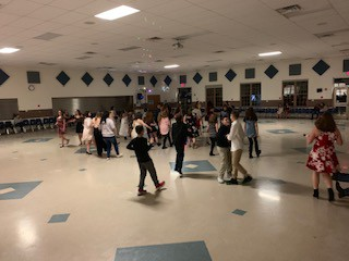 Line dancing is very popular with this crowd!