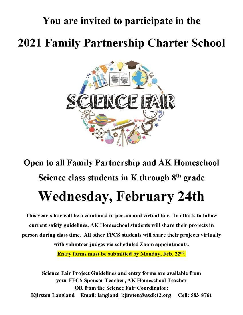 2021 Science Fair flyer