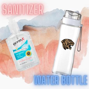 WATER BOTTLE & SANITIZER: