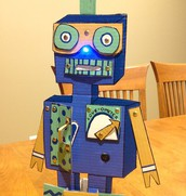 198. Stand up Light up Cardboard Robot