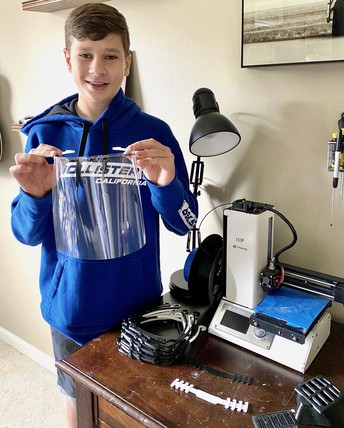 Strayer student employs 3D printer to fight COVID-19