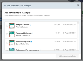 4. Select the newsletters you want to add