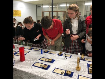 STUDENTS VIEW RELICS TODAY