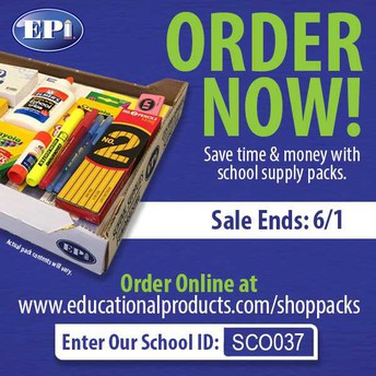 Order your school supplies for 2018-19!!