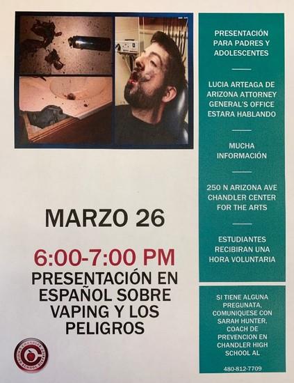 Vaping Flyer (Spanish Version)