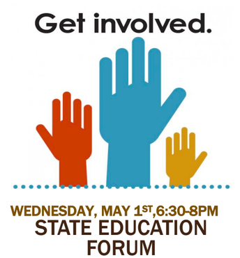 State Education Forum on Wednesday, 5/1