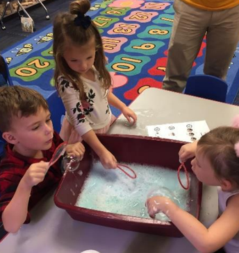 Bubble-ology at Hull STEM Preschool