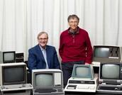 Bill Gates with his friend Paul Allen