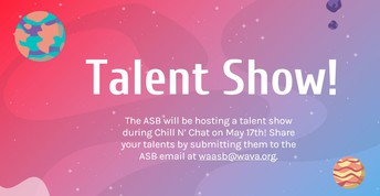 Calling all High School Students!  Show us your Talent!
