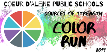 Ensure your t-shirt for sources of strength color run - Register by september 9