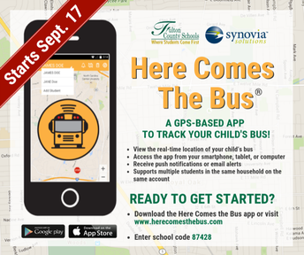 Here Comes the Bus App - 9/17