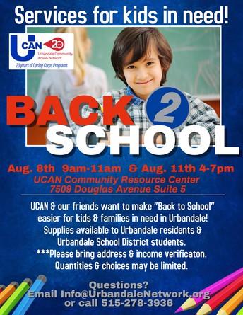 UCAN School Supplies For Kids In Need