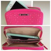 Pink Chelsea Tech Wallet - $25
