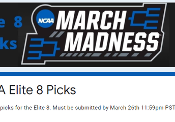 Enter your Elite8 Picks by March 26th at 11:59pm for a chance to win!