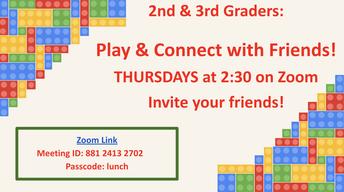 2nd & 3rd Grade Thursdays at 2:30pm