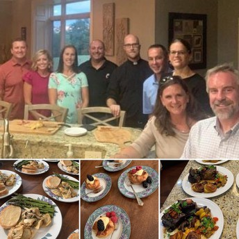 Dinner for six Prepared by Fr. Kyle