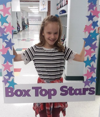 it was fun to collect box tops with my family.