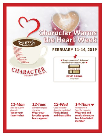Character Warms the Heart Week ~ February 11-14