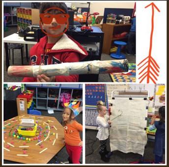 Kindergarten learners in STEM learning stations