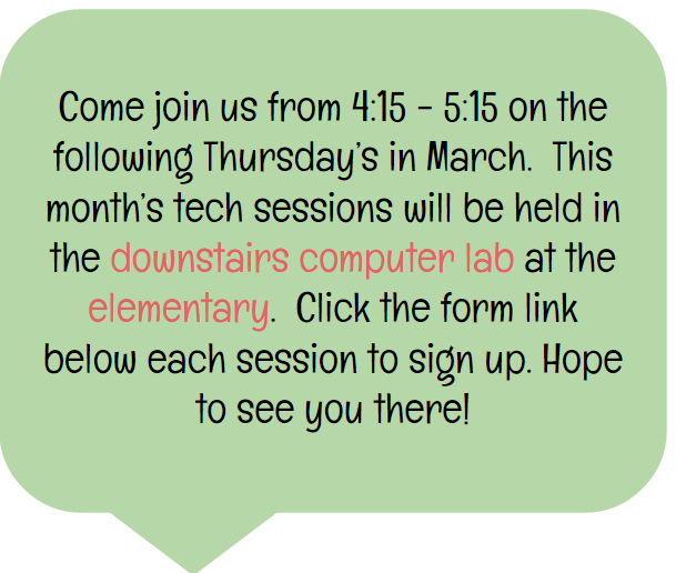 March Tech Sessions | Smore Newsletters
