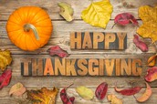 Thanksgiving Holiday 11/20 Through 11/24