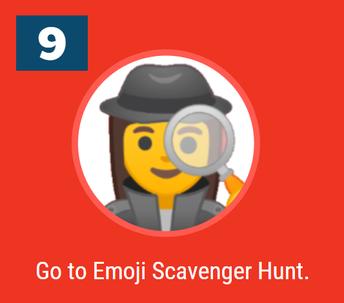 9. Emoji Scavenger Hunt