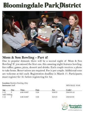 Mom & Son Bowling