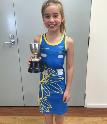 Khloe Schlaepfer with the 'Uniform Cup'
