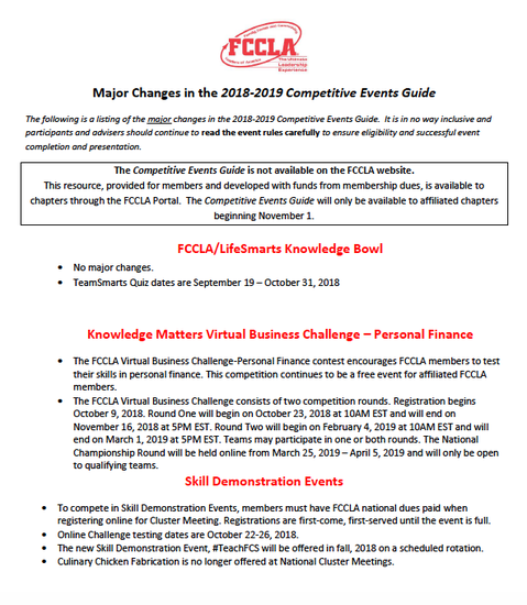FCCLA | Smore Newsletters for Education