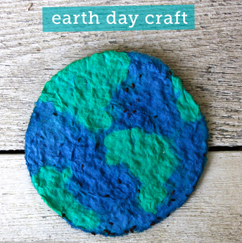 Make a Plantable Paper Earth (and watch your garden grow)!