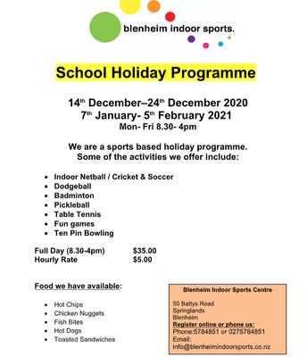 Indoor Sport's Holiday Programme