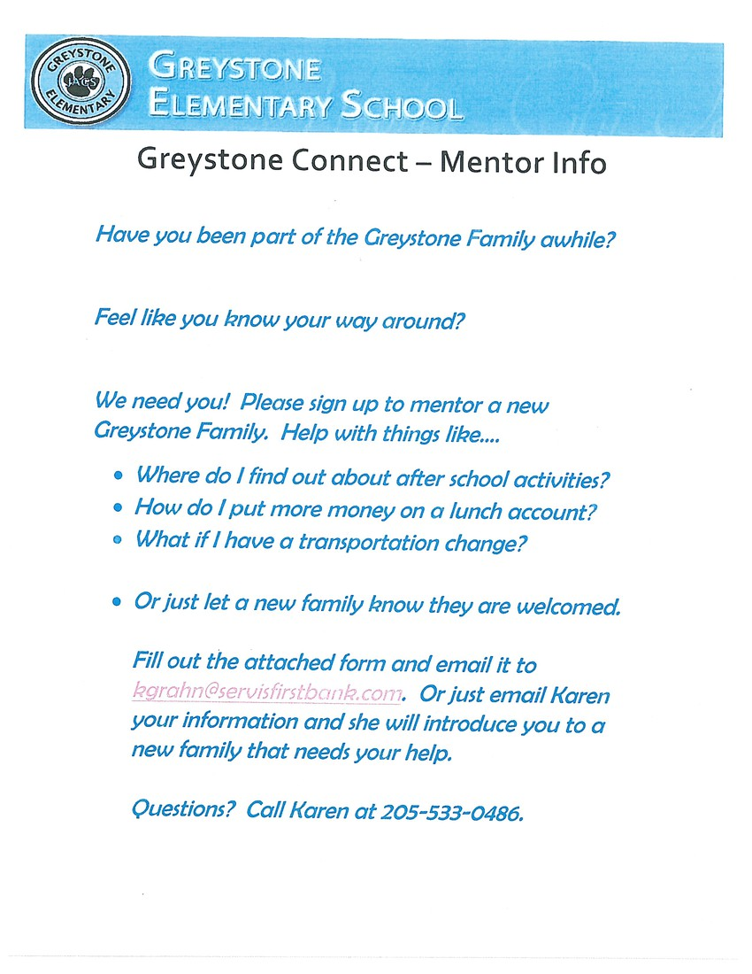 If you are an experienced Greystone family and would like to connect to one of our new families, you can sign up to be a Greystone Connect mentor.