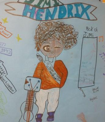 Music 6 Jimi Hendrix posters!