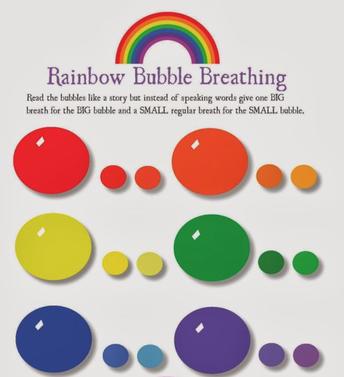 Rainbow Bubble Breathing