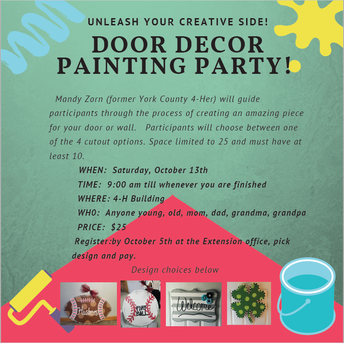 Door Decor Painting Party Cancelled!