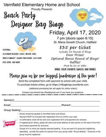 Registration Open for Designer Bag Bingo