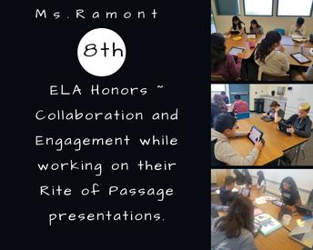 8th gr Ms. Ramont ~ Language Arts