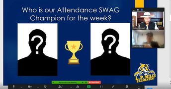 The NEW VIRTUAL Tiger SWAG for PERFECT ATTENDANCE!