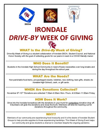Irondale High School's Week of Giving