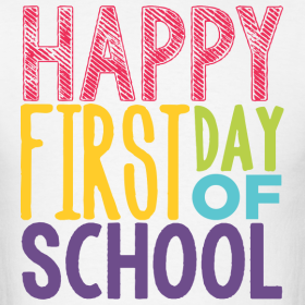 First Day of School, Thursday Aug. 16 for 1-6th grades