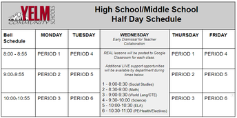 Wednesday, November 18, 2020 ~ End of Term 1 Early Release Day ~ Teachers will be working on report cards.