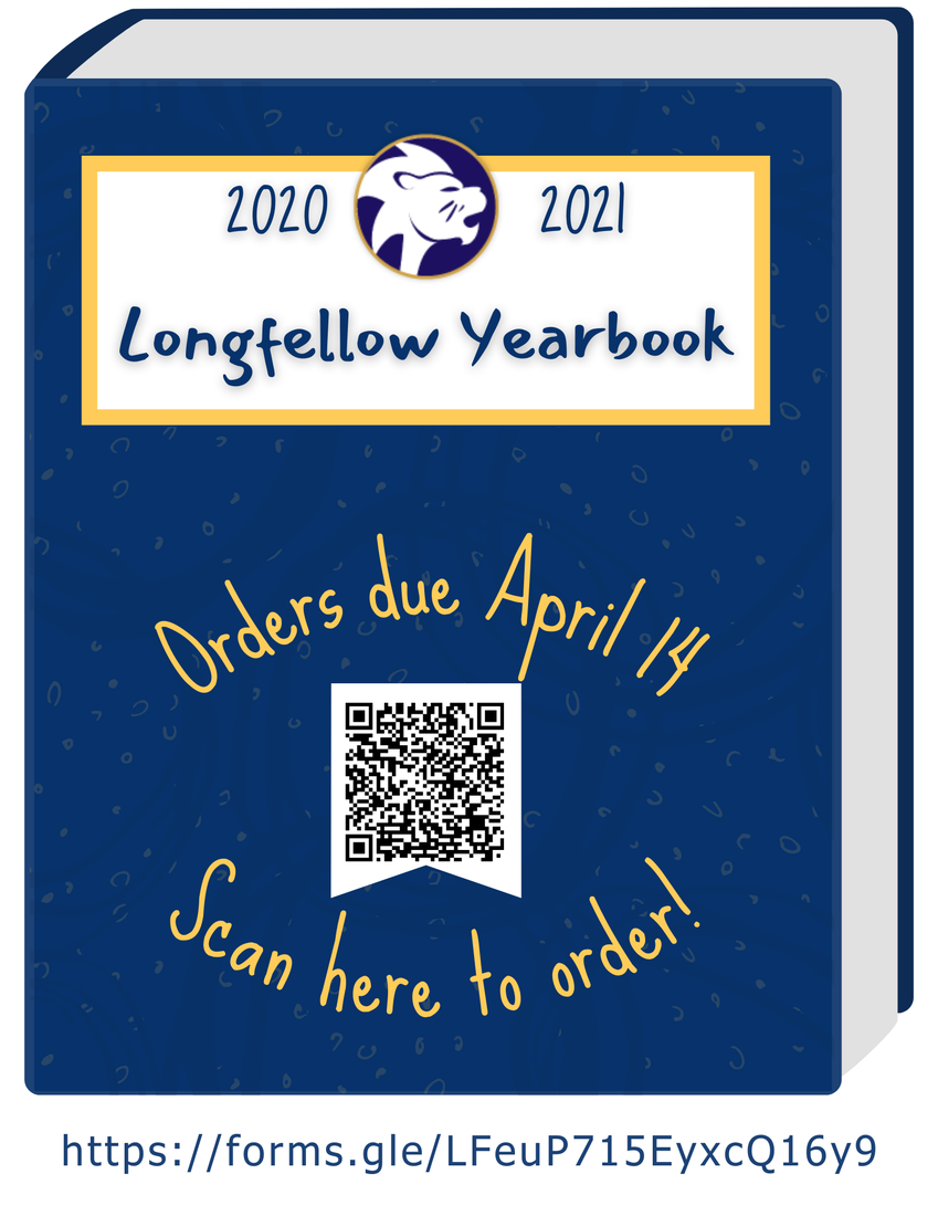 Longfellow yearbook picture with QR code for ordering