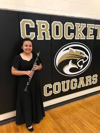 Crockett Clarinet Player Makes it to State