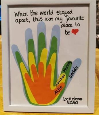 Make a family handprint craft