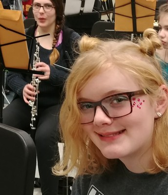 Rehearsing for Marion Honor Band