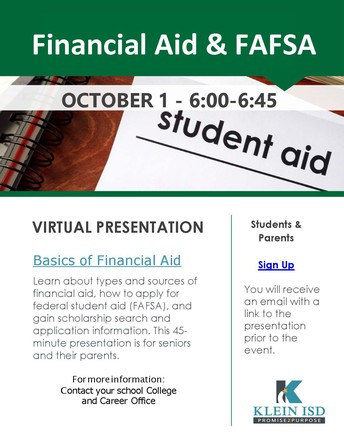 KISD: Financial Aid Night