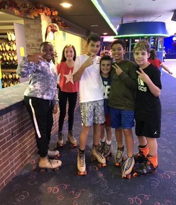 6th Grade Students at the Annual Skating Party