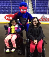 Some of our stars at the UMass Lowell River Hawks Women's Basketball Game & Health Fair!